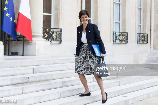 Sylvie Goulard France's minister of defence arrives for a cabinet meeting at the Elysee Palace in Paris France on Thursday May 18 2017 President...