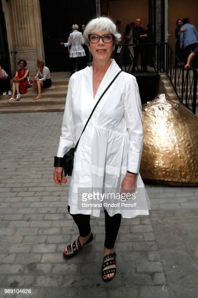 Sylvie Grumbach attends L'Alchimie secrete d'une collection The Secret Alchemy of a Collection Exhibition Preview at Galerie Azzedine Alaia on July 1...