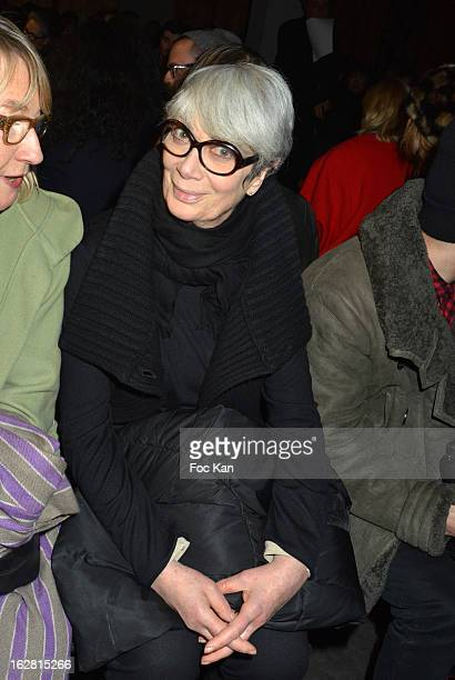 Sylvie Grumbach attends the Rue Du Mail Fall/Winter 2013 ReadytoWear show as part of Paris Fashion Week on February 27 2013 in Paris France