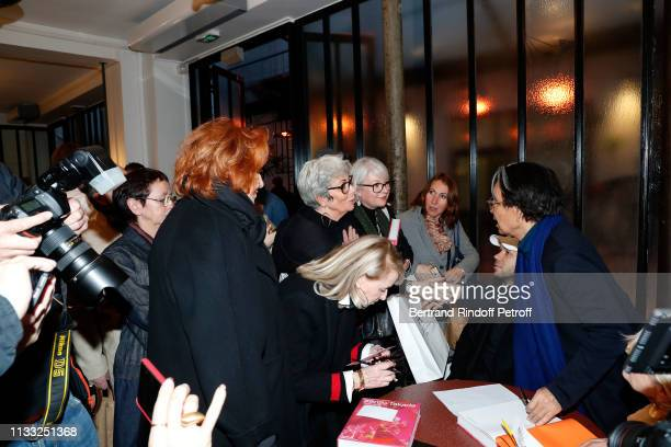 Sylvie Grumbach Ruth Obadia and Kenzo Takada attend the Kenzo Takada Book Signing during 'Azzedine Alaia Collectioneur Adrian et Alaia L'art du...