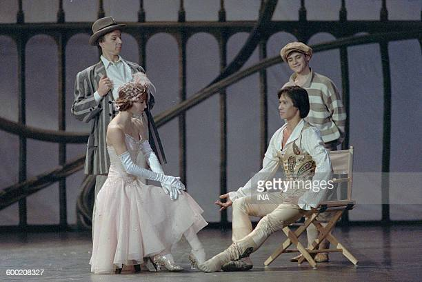 Sylvie Guillem Charles Jude and dancers of the Ballet of the National Theater of the Opera of Paris in the ballet 'Cendrillon' choreographed by...