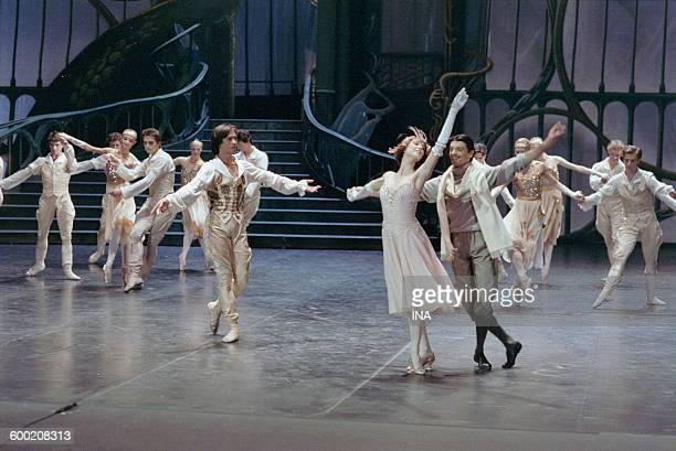 Sylvie Guillem Charles Jude and the dancers of the Ballet of the Opera of Paris in the ballet 'Cendrillon' turned in the studios of the SFP