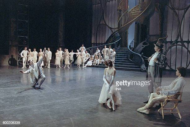 Sylvie Guillem Charles Jude and the dancers of the Ballet of the National Theater of the Opera of Paris in 'Cendrillon' choreographed by Rudolf...