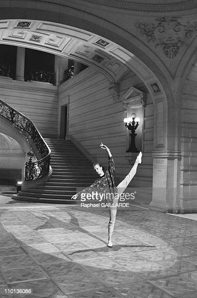 Sylvie Guillem on TV 'Le Grand Echiquier' repetition in Paris France on September 23 1986