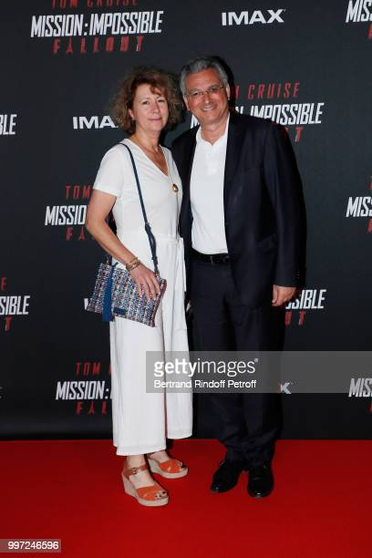 Sylvie Hadida and Victor Hadida attend the Global Premiere of 'Mission Impossible Fallout' at Palais de Chaillot on July 12 2018 in Paris France