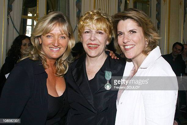 Sylvie Jolie and Charlotte de Turckeim with Mathilde Vitry in ParisFrance on June 072006