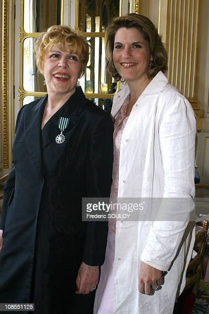 Sylvie Jolie and daughter Mathilde Vitry in ParisFrance on June 072006