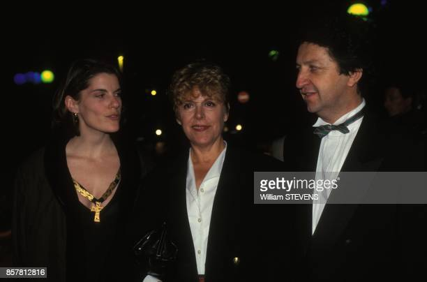 Sylvie Joly avec son epoux Pierre Vitry et sa fille Mathilde Vitry au Festival du Film Europeen le 2 octobre 1994 a La Baule France