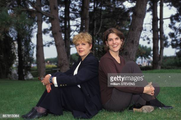 Sylvie Joly et sa fille Mathilde Vitry au Festival du Cinema Europeen le 3 octobre 1994 a La Baule France