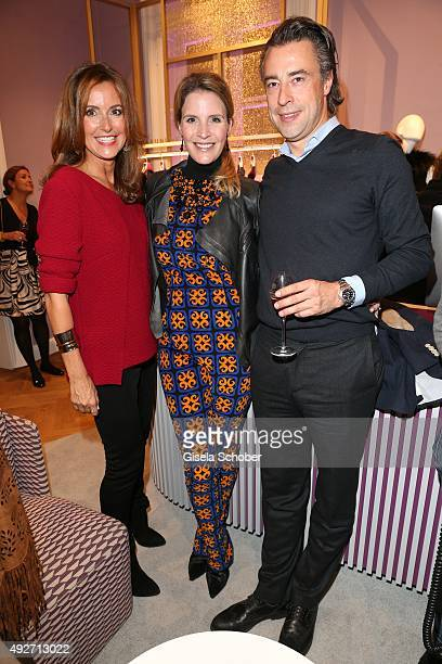 Sylvie Lindenbauer Viola Weiss and her partner Alexander Bagusat during the Talbot Runhof flagship boutique opening at Preysing Palais on October 14...