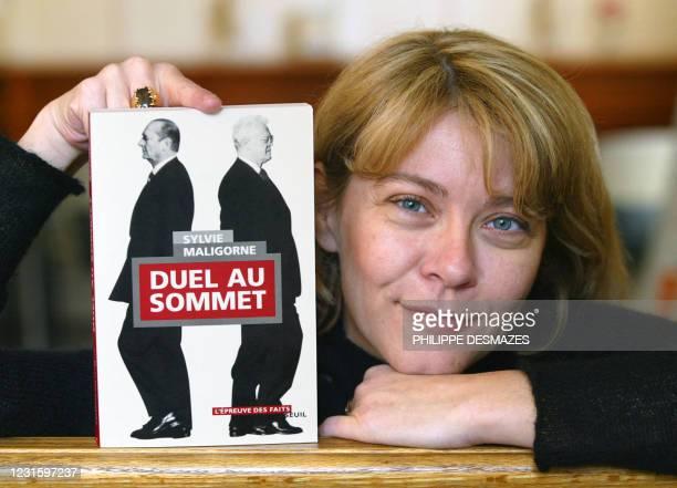 Sylvie Maligorne, journaliste à l'Agence France-Presse qui a suivi à Matignon pendant plus de 10 ans les activités de six Premiers ministres, pose à...