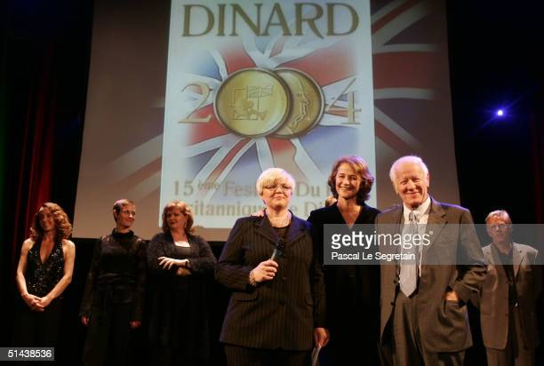 Sylvie Mallet Charlotte Rampling and Jacques Chancel attend the opening ceremony of the 15th Dinard Festival Of British Film on October 7 2004 in...