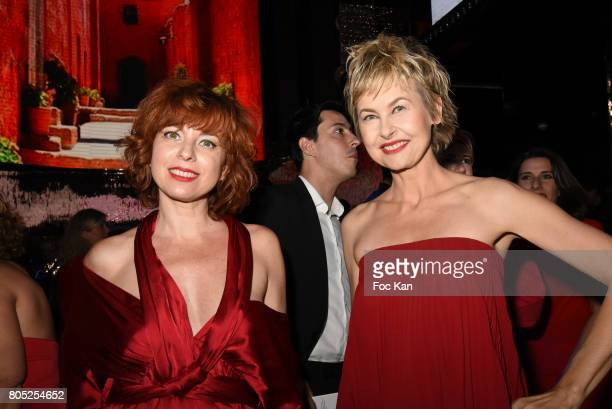Sylvie Malyss dressed by Paule Ka and Caroline Bresard attend the 'Red Defile' Auction Fashion Show Hosted by Ajila Association Association Against...