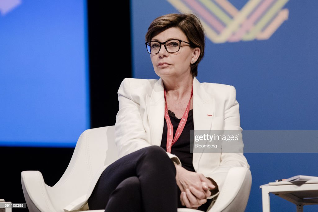 Sylvie Matherat, chief regulatory officer of Deutsche Bank AG, speaks during the Brussels Economic Forum in Brussels, Belgium, on Thursday, June 1, 2017. It may take the U.K. as long as five years to leave the European Union, with the process set to do major harm to both parties, billionaire investor George Soros said, urging the worlds biggest trading bloc to avoid penalizing Britain and instead focus on reforming itself. Photographer: Marlene Awaad/Bloomberg via Getty Images