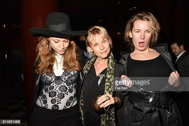 Sylvie May Laurence Chatillon and Lorraine Motte The Dirty Seven Les 7 Salopards Aux Bains DJ Party at Les Bains Paris Club on October 13 2016 in...