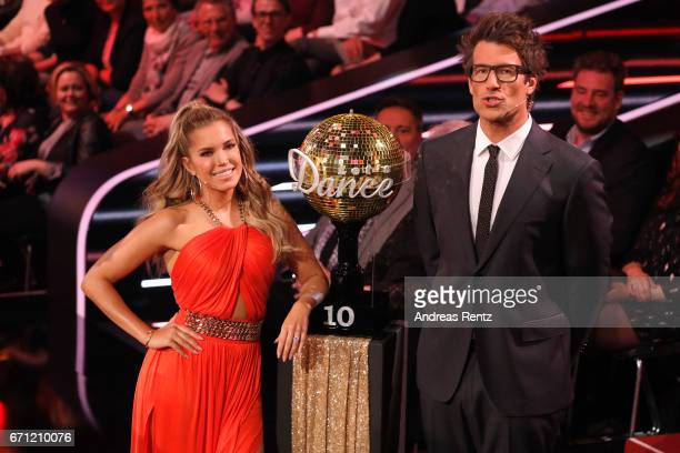 Sylvie Meis and Daniel Hartwich during the 5th show of the tenth season of the television competition 'Let's Dance' on April 21 2017 in Cologne...