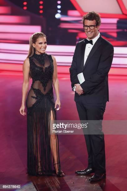 Sylvie Meis and Daniel Hartwich during the final show of the tenth season of the television competition 'Let's Dance' on June 9 2017 in Cologne...