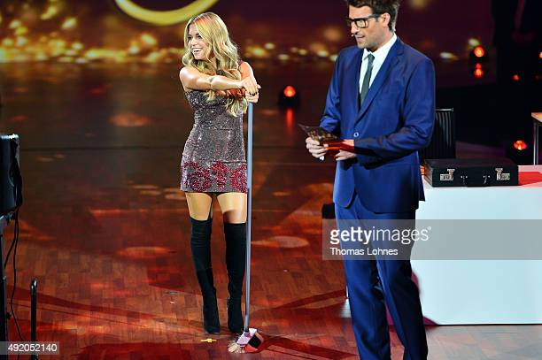 Sylvie Meis and Daniel Hartwich moderate the fith show of the television competition 'Stepping Out' on October 9 2015 in Cologne Germany