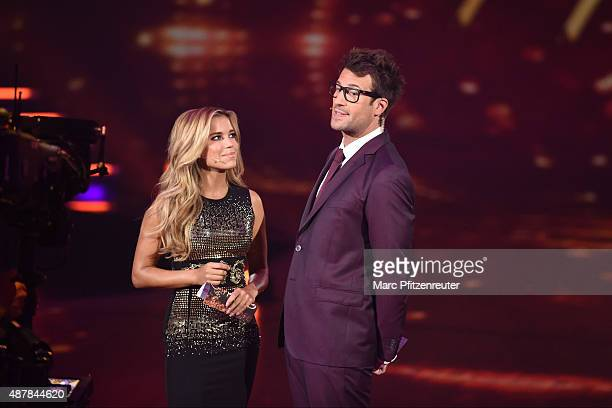 Sylvie Meis and Daniel Hartwich perform onstage during the first show of the television competition 'Stepping Out' on September 11 2015 in Cologne...