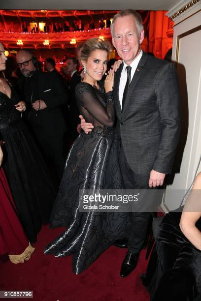 Sylvie Meis and Johannes B Kerner during the Semper Opera Ball 2018 at Semperoper on January 26 2018 in Dresden Germany
