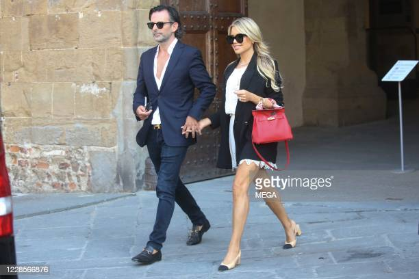 Sylvie Meis and Niclas Castello seen out for a walk on September 17 2020 in Florence Italy