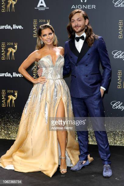 Sylvie Meis and Riccardo Simonetti attend the 70th Bambi Awards at Stage Theater on November 16 2018 in Berlin Germany