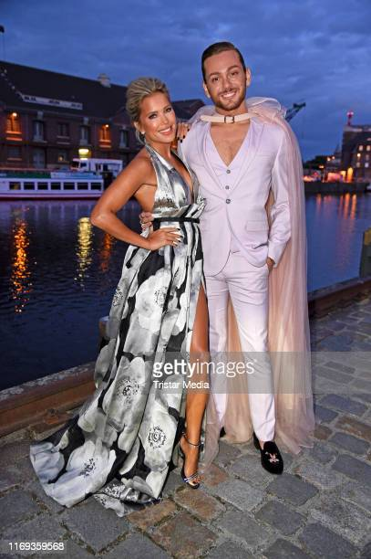 Sylvie Meis and Riccardo Simonetti attend the Dreamball 2019 at WECC Westhafen Event Convention Center on September 18 2019 in Berlin Germany