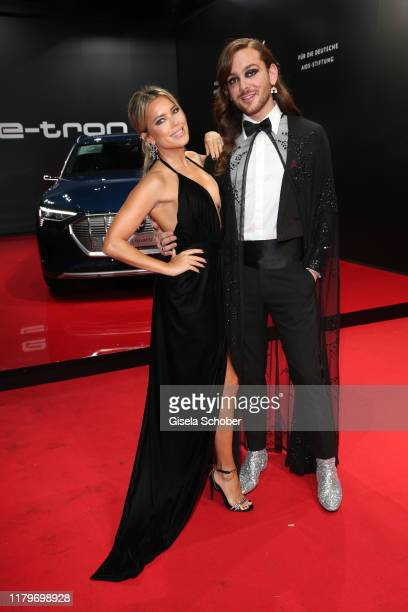 Sylvie Meis and Riccardo Simonetti during the 26th Opera Gala at Deutsche Oper Berlin on November 2 2019 in Berlin Germany