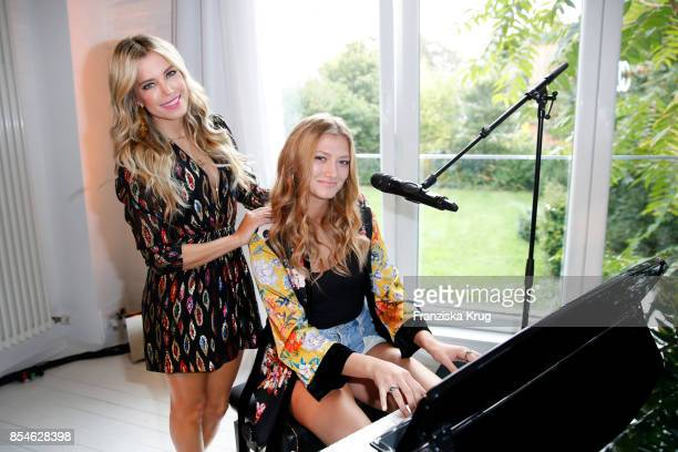 Sylvie Meis and singer Leony during the 'Sylvie Flirty Designs' Launch at Lux Studio on September 27 2017 in Hamburg Germany