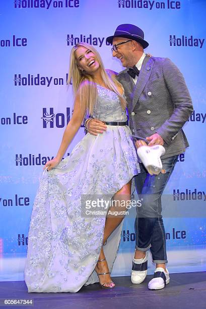 Sylvie Meis and Thomas Rath attend the presentation of the new Holiday on Ice show 'Time' at Kehrwieder Theater on September 14 2016 in Hamburg...