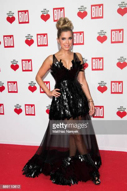 Sylvie Meis arrives at the Ein Herz Fuer Kinder gala on at Studio Berlin Adlershof on December 9 2017 in Berlin Germany