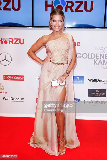 Sylvie Meis attends the Goldene Kamera 2015 on February 27 2015 in Hamburg Germany