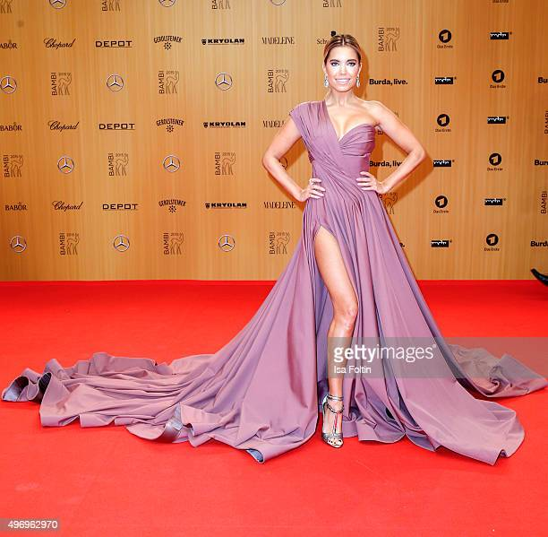Sylvie Meis attends the Kryolan At Bambi Awards 2015 Red Carpet Arrivals on November 12 2015 in Berlin Germany