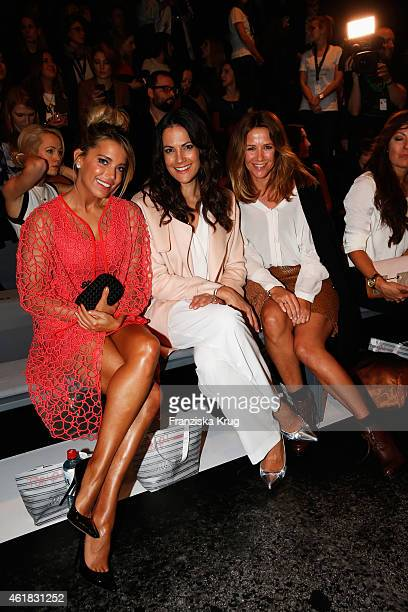 Sylvie Meis, Bettina Zimmermann and Alexandra Neldel attend the Marc Cain show during the Mercedes-Benz Fashion Week Berlin Autumn/Winter 2015/16 at...