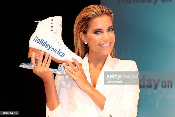 Sylvie Meis during a photo call for the new Hoilday on Ice show 'Believe' at Kehrwieder Theater on September 2 2015 in Hamburg Germany