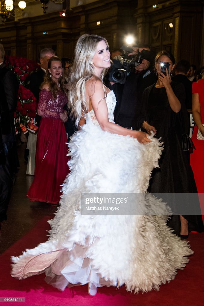 Sylvie Meis during the Semper Opera Ball 2018 ( Semper Opernball ) at Semperoper on January 26, 2018 in Dresden, Germany.