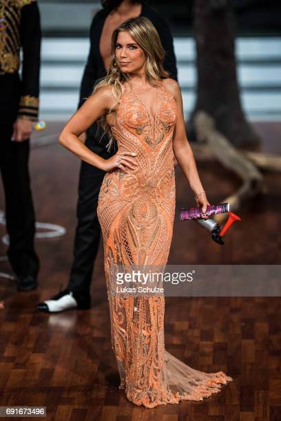 Sylvie Meis performs on stage during the semi final of the tenth season of the television competition 'Let's Dance' on June 2 2017 in Cologne Germany