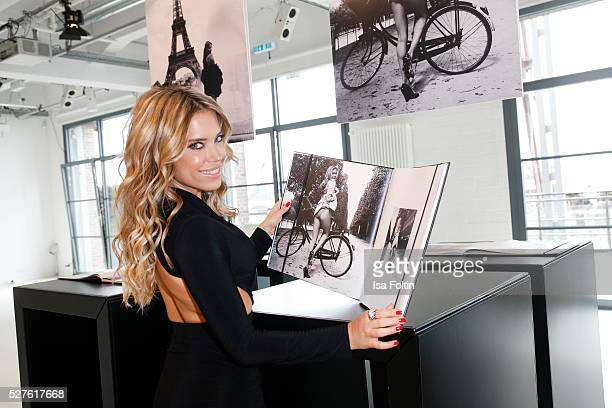 Sylvie Meis poses during the Hunkemoeller Book Launch With Sylvie Meis on May 3 2016 in Hamburg Germany