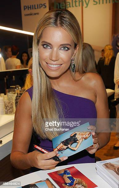 Sylvie Meis sighted at the Philips Sonicare display at the 2015 IFA Consumer Electronics Convention on September 4 2015 in Berlin Germany