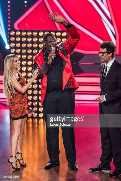 Sylvie Meis singer Alphonso Williams and Daniel Hartwig perform on stage during the 8th show of the tenth season of the television competition 'Let's...