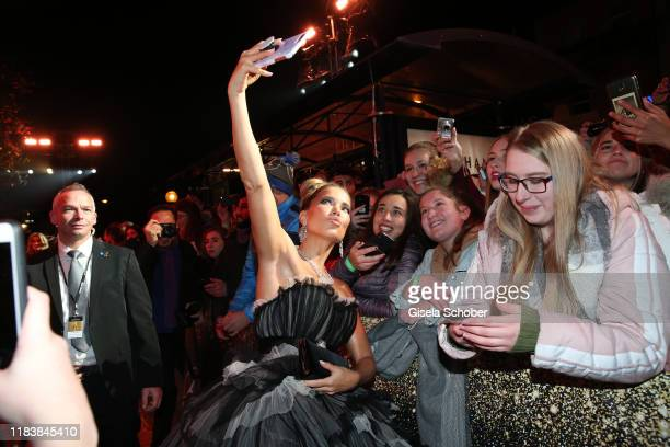 Sylvie Meis with fans during the 71tst Bambi Awards at Festspielhaus Baden-Baden on November 21, 2019 in Baden-Baden, Germany.