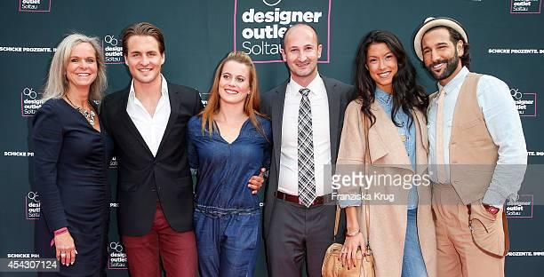 Sylvie Mutschler Alexander Klaws Nadja Scheiwiller Michael Lungkofler Rebecca Mir and Massimo Sinato attend the Late Night Shopping Designer Outlet...