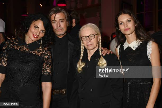 Sylvie Ortega Munos Alexandre Zouari Domnique Issermann and Ilana Kali Hansen Elfass attend the Avon Life Colour Party by Kenzo Fragrance Launch as...