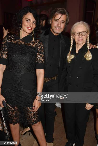 Sylvie Ortega Munos Alexandre Zouari Domnique Issermann attend the Avon Life Colour Party by Kenzo Fragrance Launch as part of the Paris Fashion Week...