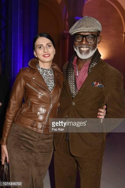 Sylvie Ortega Munos and actor Eriq Ebouaney attend Trilobe Watches Launch Party at Musee des Arts Et on December17 2018 in Paris France