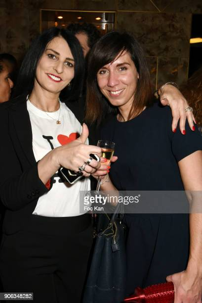Sylvie Ortega Munos and Baby Brand Food 2018 awarded Shanty Baehrel from Shanty Biscuits attend Baby Brand 2018 Awards at Cafe Franais on January 17...