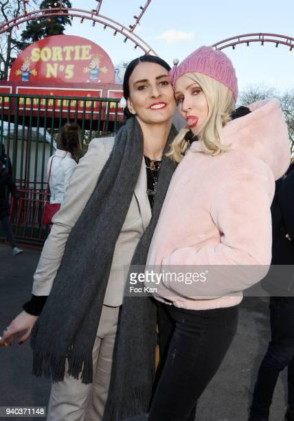 Sylvie Ortega Munos and Tatiana Laurens DelarueÊattend the Foire du Trone Opening At Pelouse de Reuilly on March 30 2018 in Paris France