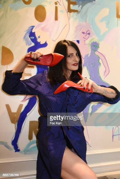Sylvie Ortega Munos attends Ken Okada Fashion Show at Hotel W on December 8 2017 in Paris France