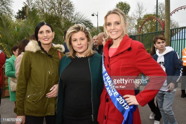 Sylvie Ortega Munos, Cindy Lopes and Madame France 2019 Sandra Ferreira attend Foire du Trone 2019 Auction Party to benefit Adicare and Amster...