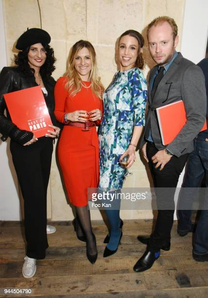 Sylvie Ortega Munos Constance Huguenin Sacha Lucas and Julien le Stum attend the 'Bel RP' 10th Anniversary at Atelier Sevigne on April 10 2018 in...